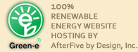 100% Renewable Energy Website Hosting By AfterFive by Design, Inc.